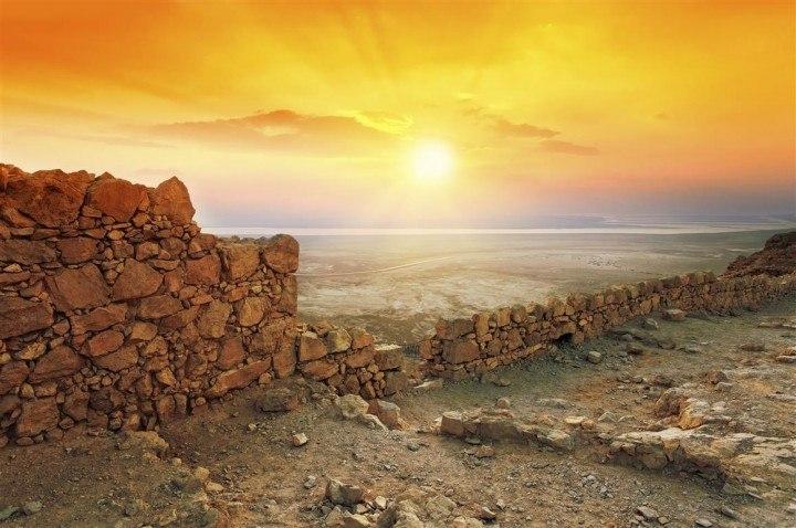 Dead Sea and Masada from Eilat